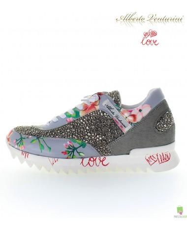 Grey sneakers ''Eternal Love''