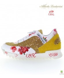 Yellow sneakers ''Eternal Love''