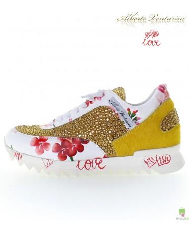 Yellow sneakers ''Eternal Love''