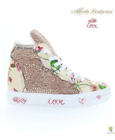 Pink sneakers ''Foolish Love''