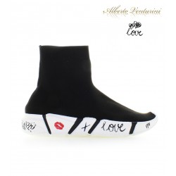 Sneaker Calzino ''Love Kiss'' nero